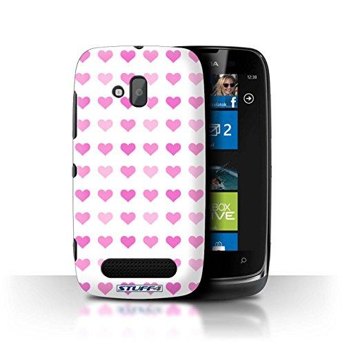 Stuff4 Hülle / Hülle für Nokia Lumia 610 / Rosa Muster / Herz Liebe Schablone Kollektion