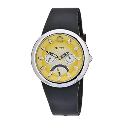 Philip Stein Women's F43S-LD-B Quartz Stainless Steel Yellow Dial Watch