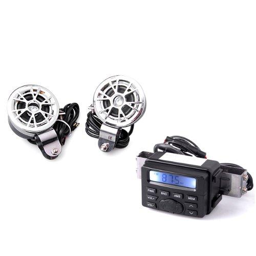 Brand New Motorcycle Audio Radio Fm Mp3 1 Stereo Radio Waterproof With Speaker Black