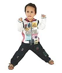 Motley Boys' T-Shirt And Jeans (boy3-4y_5-6 Years_Multi _5-6 Years)
