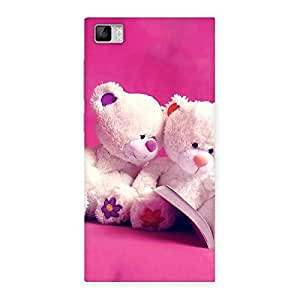 Luxirious Twin Teddy Multicolor Back Case Cover for Xiaomi Mi3