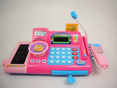 Toy Cash Register With Scanner : Realistic toy shopping cash register with accessories