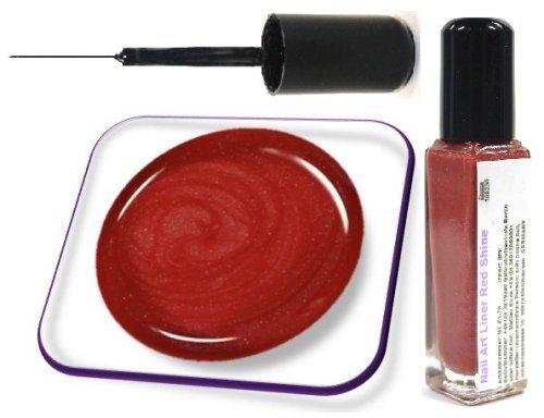 online-hut Nail Art Polish Liner 8ml Red Shine