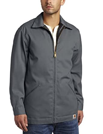 Carhartt Men's Big & Tall Blended Twill Work Jacket Quilt Lined,Dark Gray,Medium Tall