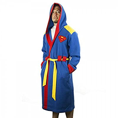 DC Comics Superman Man of Steel Costume Hooded Bath Robe with Belt