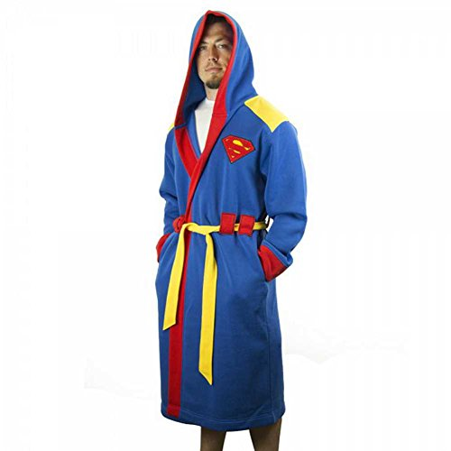 DC Comics Superman Man of Steel Costume Hooded Bath Robe with Belt