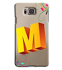 Clarks Letter M Hard Plastic Printed Back Cover/Case For Samsung Galaxy Alpha