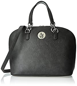 Armani Jeans V7 Leather Bugatti Top Handle Bag, Grey, One Size