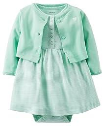 Carter\'s Baby Girls\' 2 Piece Dress Set (Baby) - Mint - 12 Months