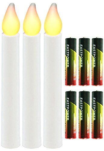 Set Of 3 Battery Operated Candles With Batteries [Xc11C 1028]