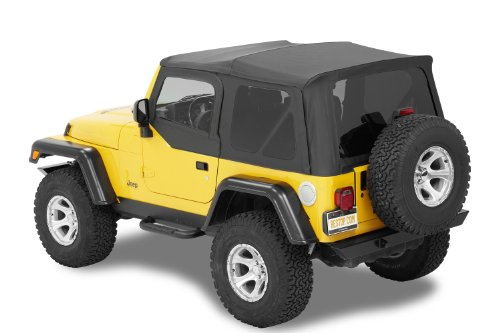 Bestop® 54720-15 Black Denim Supertop(Tm) Nx Complete Replacement Soft Top With Tinted Windows- No Doors Included- 1997-2006 Jeep Wrangler (Except Unlimited)