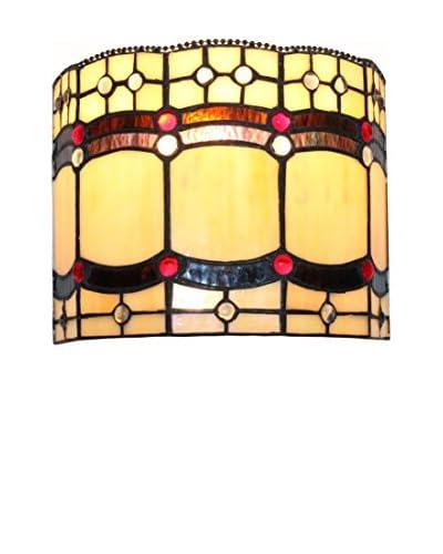 Wandlamp Tiffany ockerbraun