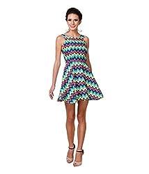Zastraa Women's Skater Dress (ZSTRDRESS0032_Multi_X-Small)