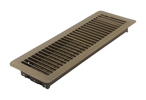 Accord ABFRBR414 Floor Register with Louvered Design, 4-Inch x 14-Inch(Duct Opening Measurements), Brown (Angled Floor Vents compare prices)