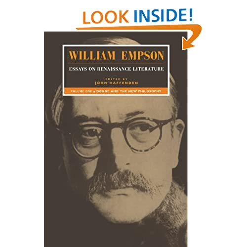 William Empson: Essays on Renaissance Literature: Volume 1, Donne and the New Philosophy