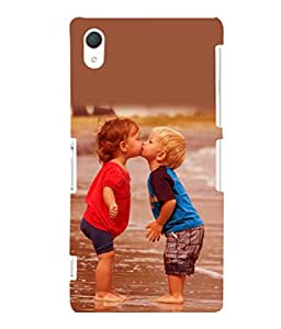 printtech Baby Kiss Love Back Case Cover for Sony Xperia Z2::Sony Xperia Z2 L50W D6502 D6503