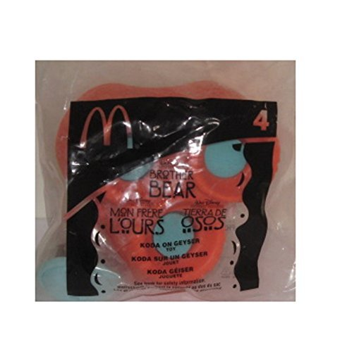 Collectible Mcdonalds Happy Meal 2003 Brother Bear Koda on Geyser #4 New Toy - 1