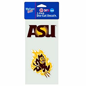 Buy NCAA Arizona State Sun Devils 4-by-8 Die Cut Decal by WinCraft