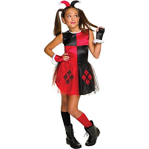 [DC Super Villain Collection Harley Quinn Girl's Costume with Tutu Dress (Medium)] (Tutu Halloween Costumes For Teenage Girls)