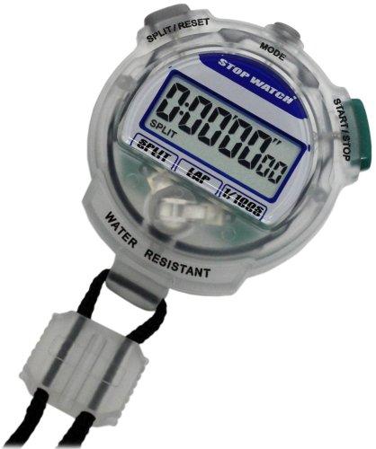 [Crerar] CREPHA digital stopwatch 3 ATM waterproof countdown measurements clear TEV-4013-CL