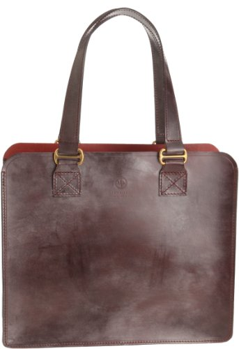 02-6152 Leather Tote Bag M: Havana
