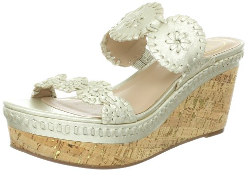Jack Rogers Women'S Leigh Platform Sandal,Platinum,8.5 M Us front-813001