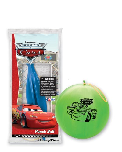 Pioneer National Latex Disney Cars Punch Balls, Assorted, 6-Piece