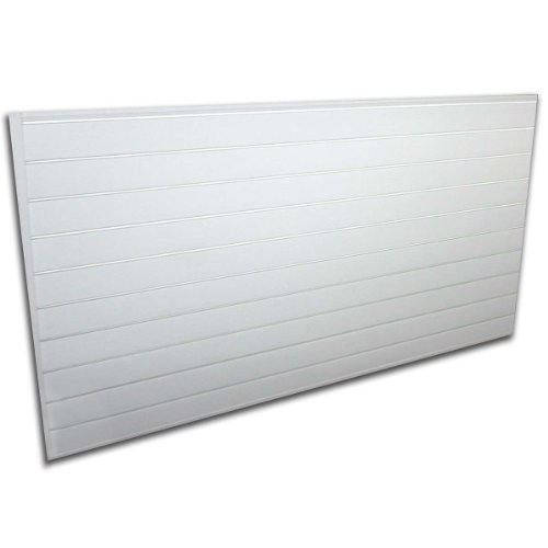 Proslat 88102 Heavy Duty PVC Slatwall Garage Organizer, 8-Feet by 4-Feet Section, 10 Panels, White (Pvc Wall Panels compare prices)