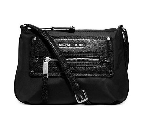 Michael Kors Gilmore Black Nylon Pebbled Crossbody Bag 32F3S0Rc5C New