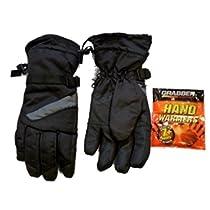 Northcrest Mens Waterproof Black Snow & Ski Gloves with Handwarmers