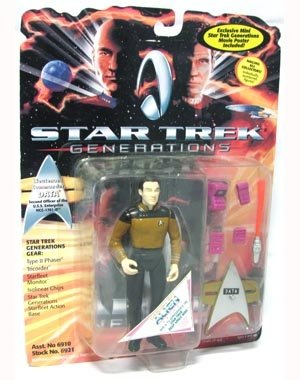 "Star Trek Generations Lieutenant Commander Data 4.5"" Action Figure"
