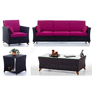 Cheap Rattan Deep Seating Furniture fusia