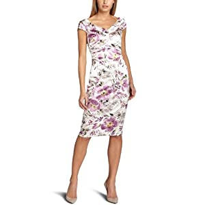 Amazon.com: Maggy London Women's Printed Watercolor Stretch Satin Dress: Clothing from amazon.com