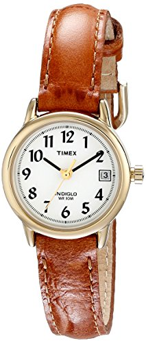 Timex Women's T2J761 Easy Reader Brown Leather Strap Casual Watch