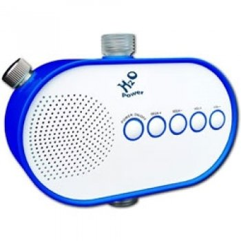 H2O H2O-100 Power Water Pressure Powered Shower Radio