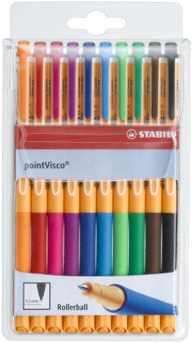 stabilo-point-visco-10er-etui-tintenroller-mit-revolutionarer-tintentechnologie