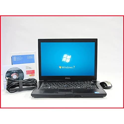 Windows7-Professional64bit DELL製14.1型ワイド 現役最強i5-M560(2.4G)搭載 メモリ2GB HDD160GB DVDドライブ DVD再生可 WLAN内蔵 OSリカバリディスク64bit(シール付き) Office済