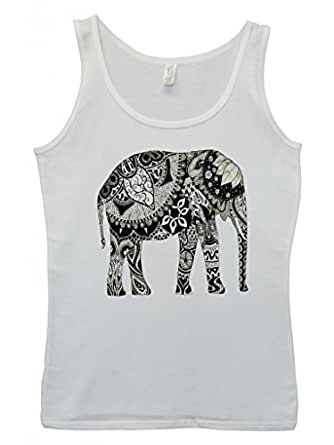 Amazon.com: Elephant Drawing Ethnic Pattern Art Funny Hipster Swag