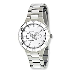 Ladies NFL Kansas City Chiefs Pearl Watch by Jewelry Adviser Nfl Watches