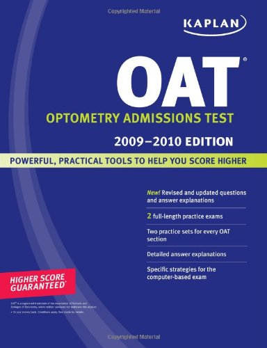 Kaplan OAT, 2009-2010 Edition (Kaplan OAT)