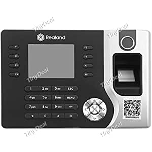 "REALAND A-C071 2.4"" TFT Screen USB TCP/IP RFID Card Password Fingerprint Time Attendance Clock Recorder SAC-321341"