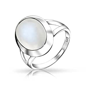 Amazon.com: Christmas Gifts Oval Simulated Moonstone Ring ...