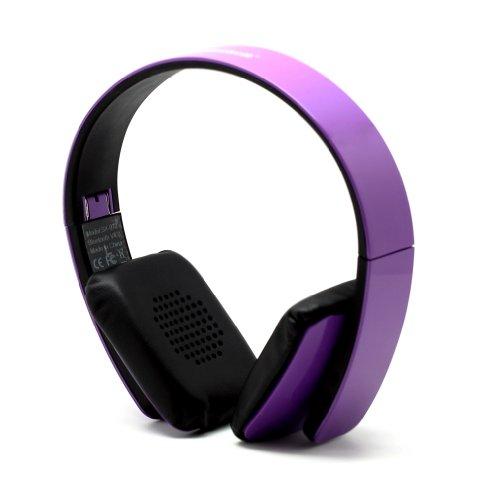Purple Folding Wireless Bluetooth V4.0 Stereo Universal Headset Headphone