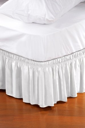 Buy Discount Wrap Around Style Easy Fit Elastic Bed Ruffles KING/QUEEN