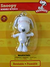 Peanuts Snoopy character bendable keyring - Original Snoopy Figure Keychain