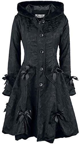 Poizen Industries Alice Rose Coat Cappotto donna nero XL