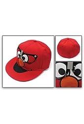 Sesame Street Glasses Elmo Fitted Flat-bill Baseball Hat