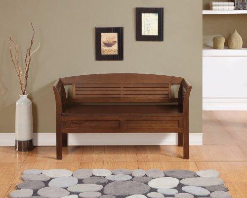 Banco de almacenamiento de asiento de madera entrada casa - Muebles para pasillo ...