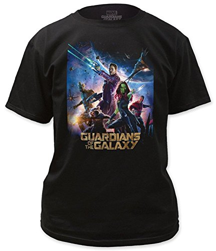 Official Licensed Guardians of the Galaxy Movie Poster Men's T-Shirt - X-Large