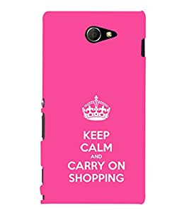 iFasho Nice Quote On Keep Calm Back Case Cover for Sony Xperia M2 Dual